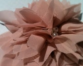 Large Pink Material Flower Clip Accessory