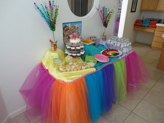 Tulle Table Tutu Skirt YOU PICK COLORS Custom made