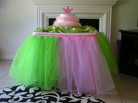 Tulle Tutu Table Skirt Custom Made By Bailey Had A Party
