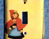 Little Red Riding Hood Vintage Storybook Switchplate