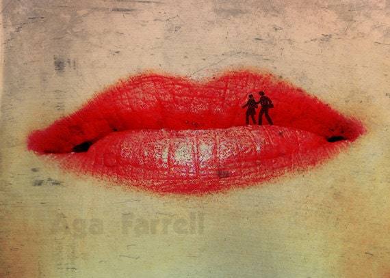 Red Wall Art, Lips Poster, Fashion Print, Lips Print, Inspirational Wall Art, Couple, Red Wall Decor, Red Lips, Love Art Print, Surreal Art