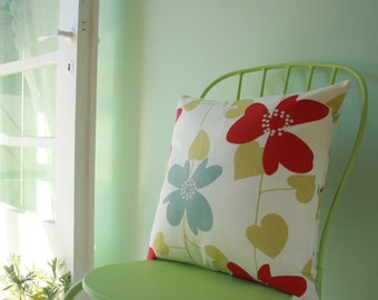 Modern flowers decorative  pillow cover / pillowcase / cushion cover -  18 x 18 inches