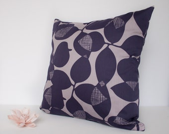 Purple leaves modern throw pillow cover / pillowcase / cushion cover - 18 x 18 inches