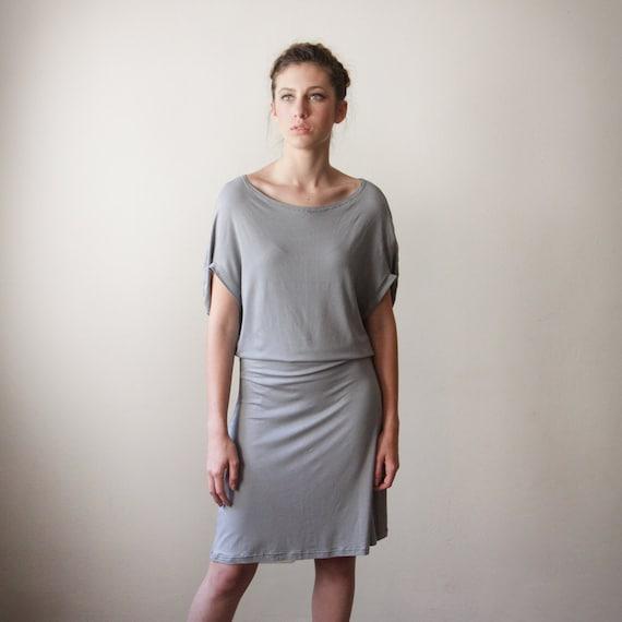 Gray Feminine Dress, Girly Dress