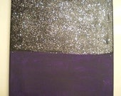 Black and Purple with Glitter Painting