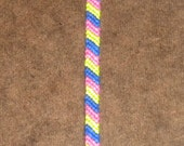 Pink, Blue, and Green candy stripe bracelet