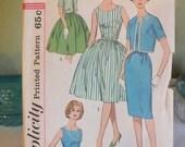 Vintage retro dress pattern 1960s Simplicity 3929