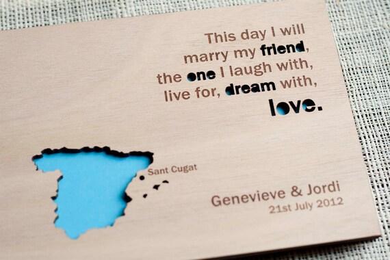 Custom Wedding guest book wood rustic wedding guest book album bridal shower engagement anniversary- Map Guest Book