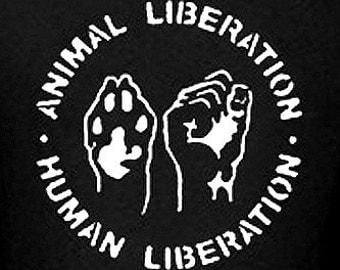 ANIMAL RIGHTS T-Shirt  vegan t shirt cool tshirt vegetarian shirt Tee Shirt peta (also available on crewneck sweatshirts and hoodies) SM-5XL
