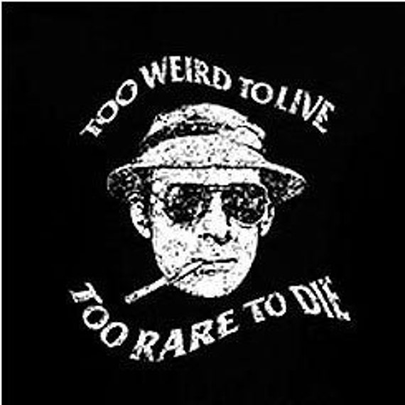Hunter s thompson T-shirt gonzo fear and loathing woodstock tshirt marijuana  (also available on crewneck sweatshirts and hoodies) SM-5XL