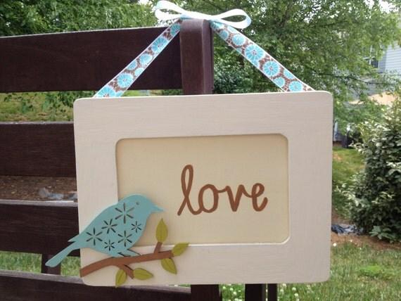 Rustic Love Birds Wedding Signs