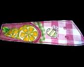 Bee and Lemon Fabric Armband