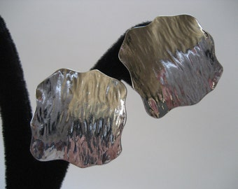Silver Square Clip Back Earrings