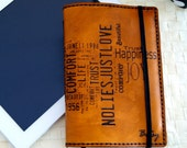 Large Moleskine Notebook Leather Cover Engraved & Personalized
