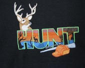 "Embroidered ""Hunt"" Hoodie Sweatshirt"