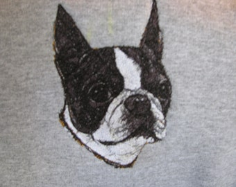 """Embroidered """"Boston Terrier"""" Hoodie"""
