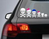 Skull Family Decal / Sticker