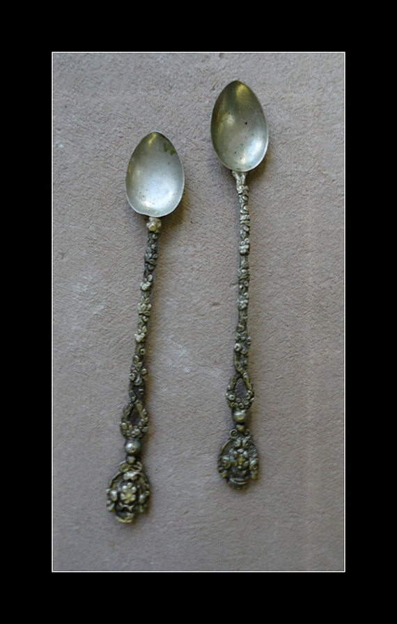 Italian Made Antique Olive Spoons