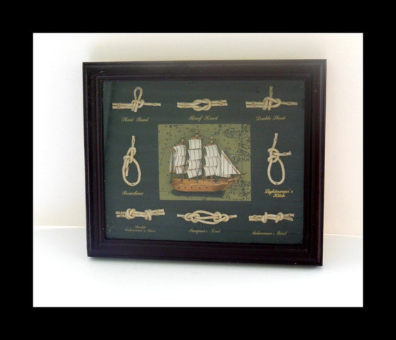 Schooner with Sailor's Knots Shadow Box