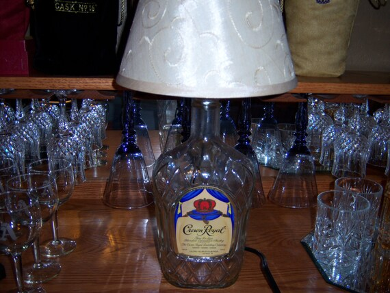 Crown Royal Lamp (made from upcycled Crown Royal bottle)