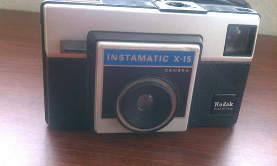 "Vintage Camera Kodak Instamatic X-15 Camera, Case and Instruction Booklet ""SALE PRICE"""