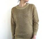 Vintage Gold Metallic Sweater