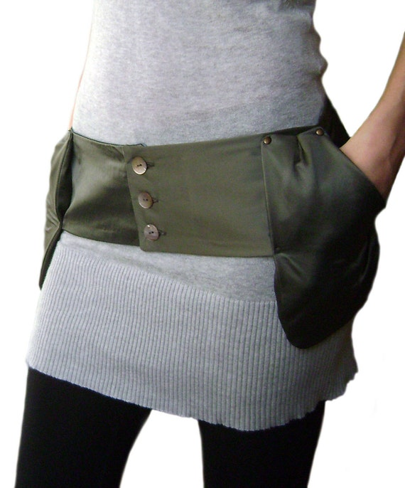 FREE SHIPPING Unique Handmade Belt with two pockets