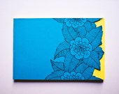 Handmade Notebook - Blue Cover/ Yellow pages