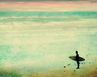The Endless Summer - 8x12 Surfing beach surf photography print ocean sea surfer beachy nursery home decor waves wall art sunset water aqua