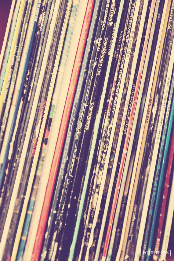 Music Is Love 8x12 Vinyl Records Record Collection