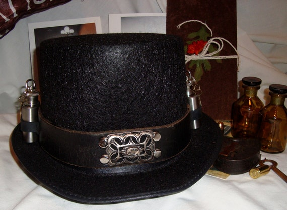 Steampunk Top Hat with Flask
