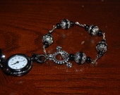 Beaded Style Pocketwatch Bracelet