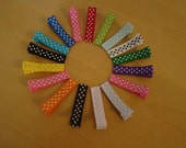 100 pcs partially polka dot  Lined Alligator Clips