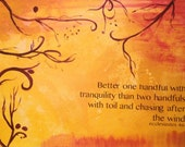 Ecclesiastes 4:6 Abstract Inspirational Art