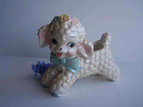 Vintage Baby Little Lamb Vase.....too cute