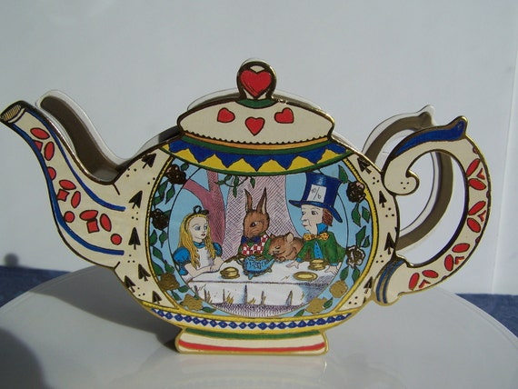 "Adorable Miniture ""Alice in Wonderland"" Tea Set"