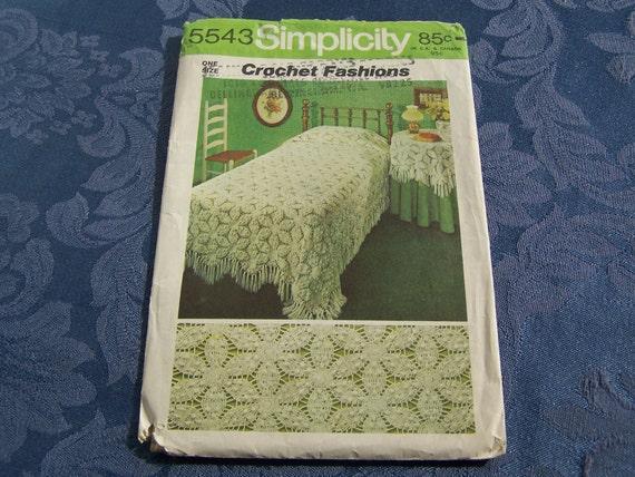 Crochet Bedspread & Tablecloth Patten....