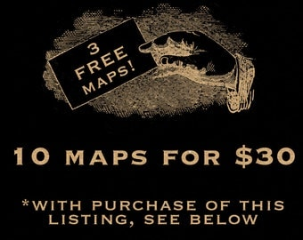 SALE Get Ten Maps For Thirty Dollars 061 Digital Image Downloads Clip Art Transfer Tshirt Vintage Antique Vector Maps Cartography