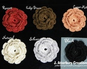 Handmade Crochet Flowers You can use to decorate your projects...Pick 4 from the many colors I have available...