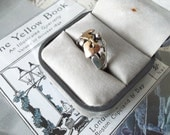 9kt Gold and Sterling Ring