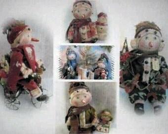 SALE Primitve Snowman Dolls Pattern Collection (Includes all 5 Primitive Snowman Patterns) E-Pattern