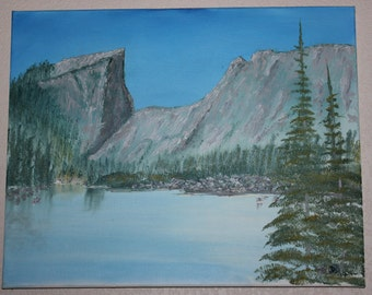 Dream Lake Rocky Mountain National Park Original oil painting landscape