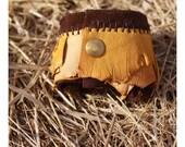 Leather Jewelry/Accessories: Tribal Wrist Cuff