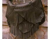 Leather Fringe Purse. Handmade Leather Bag. Leather Hippie Bag. Small Leather Purse.