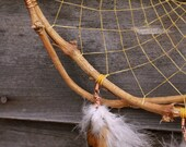 Rustic Dream Catcher: Hand Pruned Grapevine & Copper-Wrapped Feathers