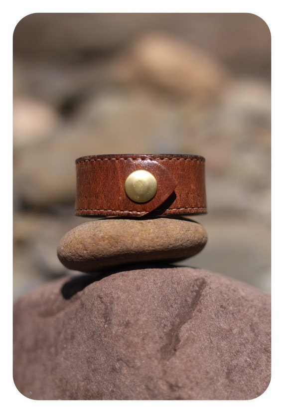 Leather Bracelet. Leather Jewelry. Leather Wrist Cuff. Leather Accessories.