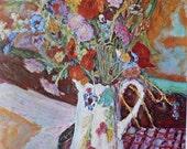 Bouquet De Fleurs, by Pierre Bonnard, French Artist, 1966 Vintage Art Print
