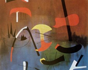 Composition 1963, by Spanish Artist Joan Miro 1966 Vintage Art Print