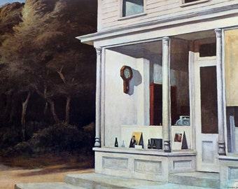 Seven A.M. by American Artist Edward Hopper 1948 Vintage Art Print, 1966