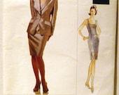 Vogue Pattern 1639 Designer Badgley Mischka Jacket and Dress NEW & Uncut